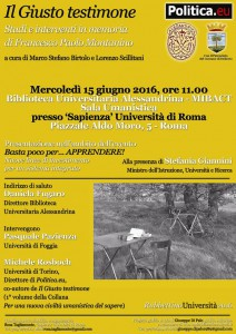 Roma_15 giugno 2016_Il Giusto testimone